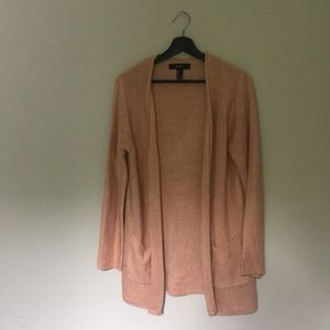 Forever21 Dusty Rose Open Knit Cardigan